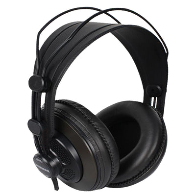 Original Samson SR850 Monitoring HIFI Headset Semi-Open-Back Headphones For Studio With Leather Earcup - Without Retail Box