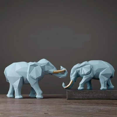 Resin India Elephant Figurine for Home Decoration Modern Craft Elephant Statue