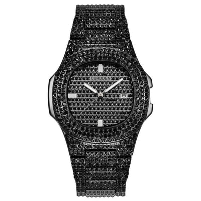 Iced Out Bling Diamond Watch For Men Women Hip Hop Stainless Steel Rhinestone Quartz Watches