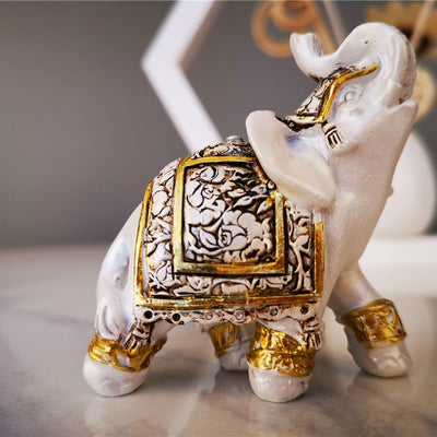 Lucky Elephant Statue Sculpture - Wealth Figurine Feng Shui Home  Decoration