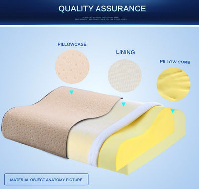 Orthopedic Neck Pillow - Memory Foam Physical Therapy Pillow