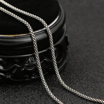 s925 Sterling Silver Corn Chain Necklace
