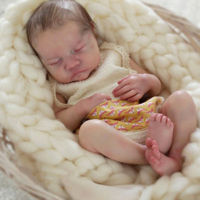 DIY Blank Doll Kit Reborn Baby Doll 17 Inches -  Vinyl Unpainted Unfinished Newborn Baby Doll Parts