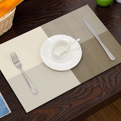 PVC Bamboo Plastic Placemats Heat-resistant Table Mat Set