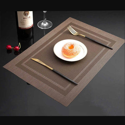 6 PCS Anti-skid And Heat-insulation PVC Placemat For Dining Table Non-slip Table Mat Kitchen Accessories