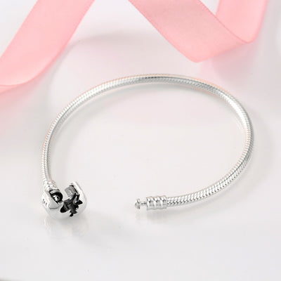 925 Sterling Silver Bracelets Round Shape Snake Chain For Womens