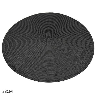4 Pcs Round Placemats Woven PP Table Mats Heat Resistant Dining Table Placemats for Kitchen Table Party