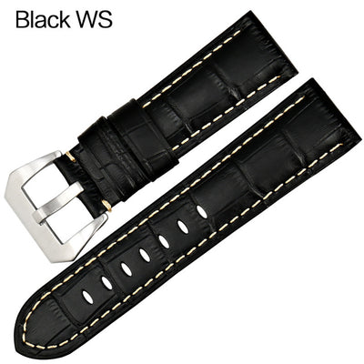 Genuine Leather Watch Straps -  22mm 24mm 26mm Watch Bands With Stainless Steel Buckle