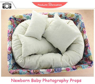 Newborn Photography Props Basket Filler - 4 PCS/Set Baby Pillows Baby Photoshoot Props