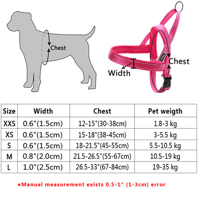 No Pull Reflective Dog Harness Leash Set For Dog Walking Training