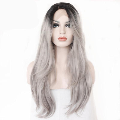 New Ombre Lace Front Wig Heat Resistant Synthetic Hair