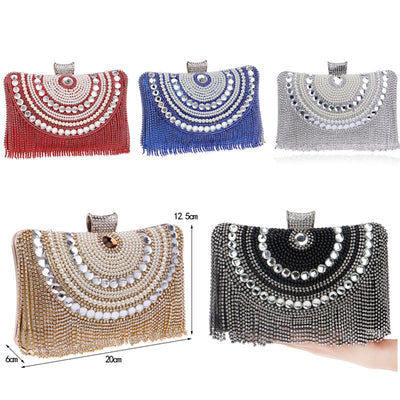 Women's Rhinestones Handbag Evening Clutch Purse Beaded Bags For Wedding