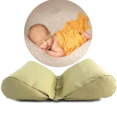 Newborn Baby Photography Props PU Leather Wedge Shaped Pillow Baby Photo Props