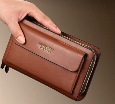 New Long Wallet For Men - Double Zipper Organizer Wallets