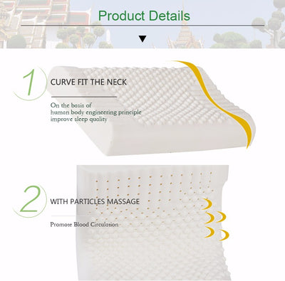 Natural Latex Orthopedic Cervical Neck Pillow