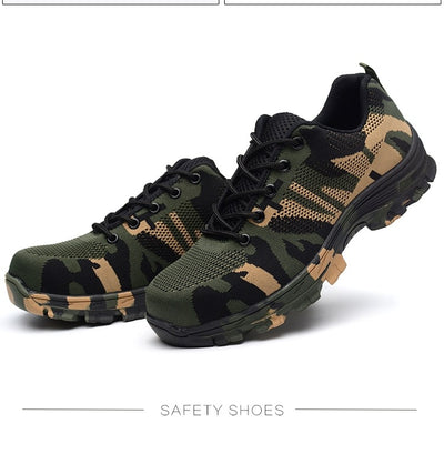 Safety Steel Toe Shoes - Men's Plus Size Puncture Proof Shoes