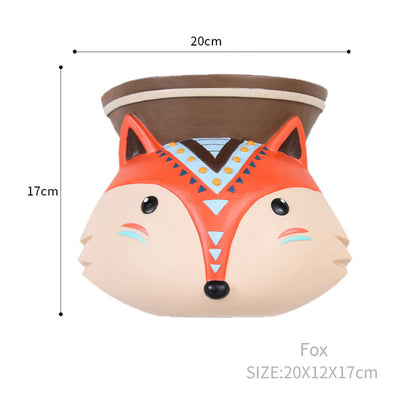 Wall Hanging Planter Flower Pot - Animal Design Succulent Plant Pot Home Decor