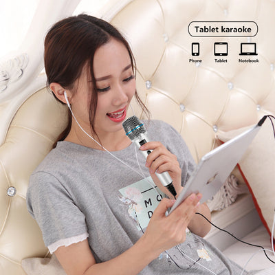 Professional Condenser Microphone for Computer and Smartphone with Stand