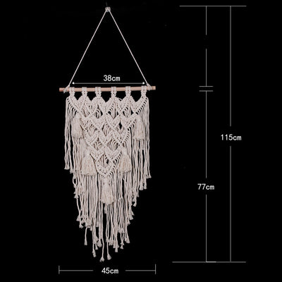 Macrame Wall Hanging Tapestry Handmade Hanging Decorations