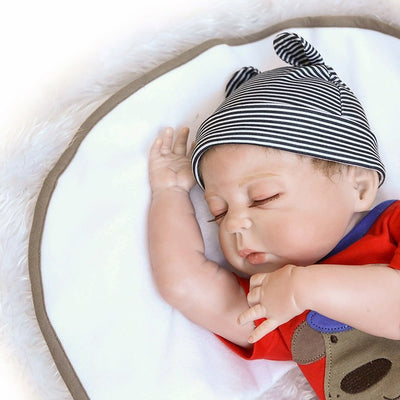 Lifelike Newborn Baby Dolls Full Body Soft Silicone Reborn Baby Dolls 45 CM