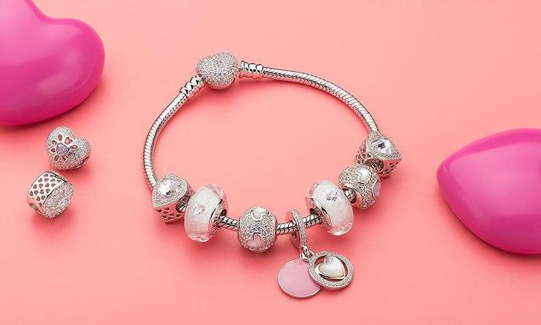 Calvas Real 925 Sterling Silver Love /& Guidance Charm Beads Fit Original European Bracelet Necklace Authentic Jewelry Wife Gifts
