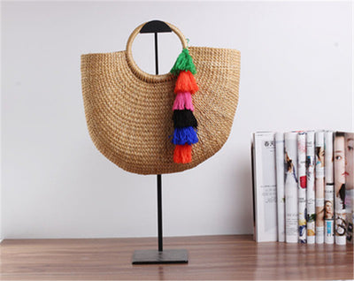 New Women Straw Totes Bag - Cute Woven Beach Bag