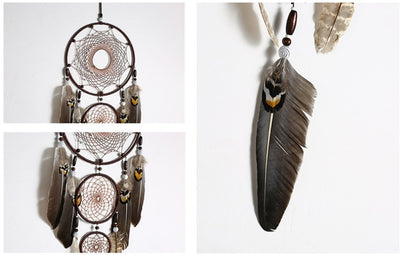 New Feather Indian Dream Catcher With Gift Box Home Hanging Decoration