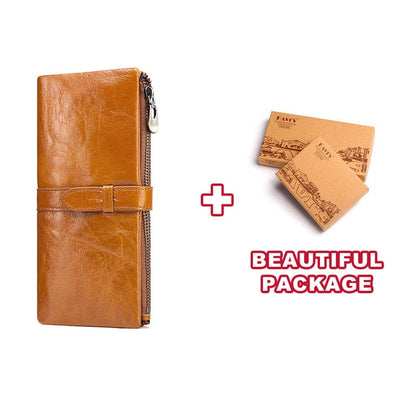 New Long Wallet For Women - Luxury Genuine Leather Wallet