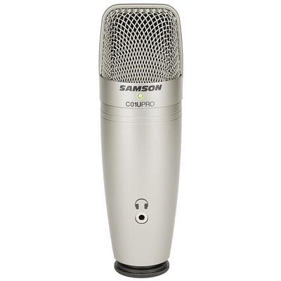 Samson C01U Pro USB Studio Condenser Microphone with Real-time Monitoring Large Diaphragm - Condenser Microphone For Broadcasting