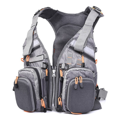 Mesh Fishing Vest - Multi-function Breathable Backpack Fishing Vest