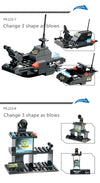8 IN 1 Robot Aircraft Car Bricks - Building Blocks Toys For Kids
