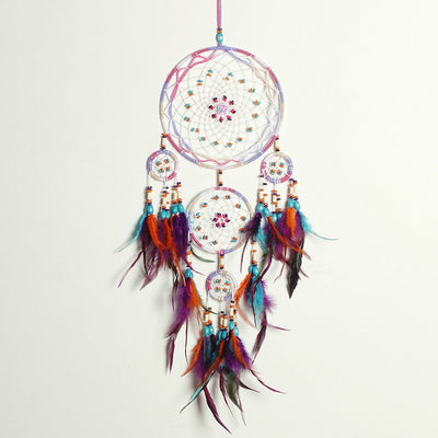 Feather Dream Catcher With Gift Box Wall Hanging Decoration