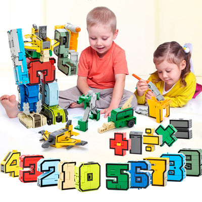 15 Pcs Building Toys Blocks For Kids -  Number Figures Transformation Robot