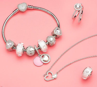 Shimmer Clear CZ Genuine Murano Glass Bead 925 Sterling Silver Core Fit All European Bracelets and Necklace