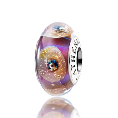 Genuine Murano Glass Bead 925 Silver Core - Gold Shell Design Fit All European Bracelets