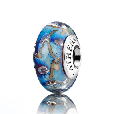 New Genuine Murano Glass Bead 925 Silver Core Fit All European Bracelets - Stars of Nights Design