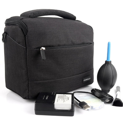 DSLR Camera Bag - Waterproof Polyester Shoulder Camera Case For Canon Nikon Sony