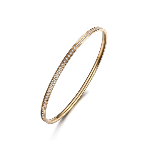 Bangle thin Gold/White