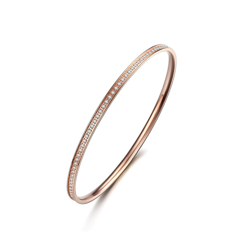 Bangle thin Rose/White