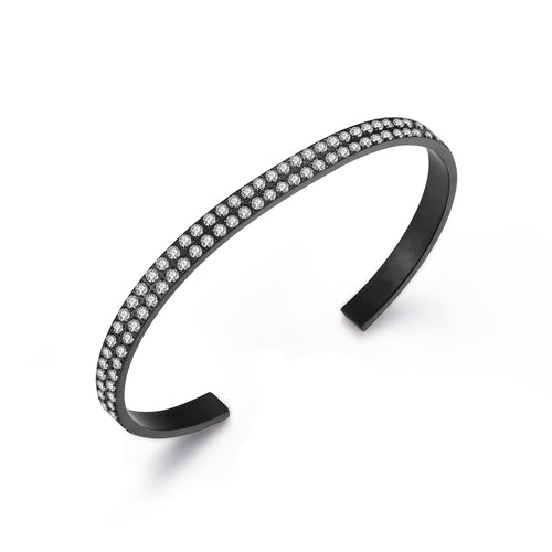 Bangle Open Black/White