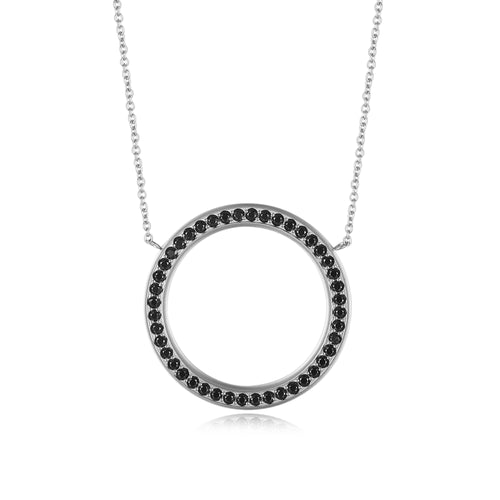 Circle thin White/Black