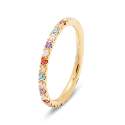 Side Ring Gold/Multicolor