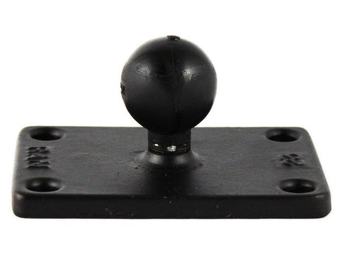 "RAM-B-202U-23 - RAM B Size 1"" Ball and Rectangular Plate with 1.5"" x 2.5"" 4-Hole Pattern - image1"