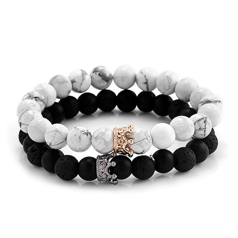 His & Hers couple Queen & King bracelet - Cerenit