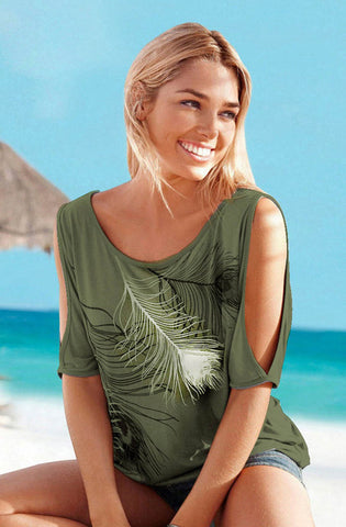 FEATHER SUMMER TOP - Cerenit
