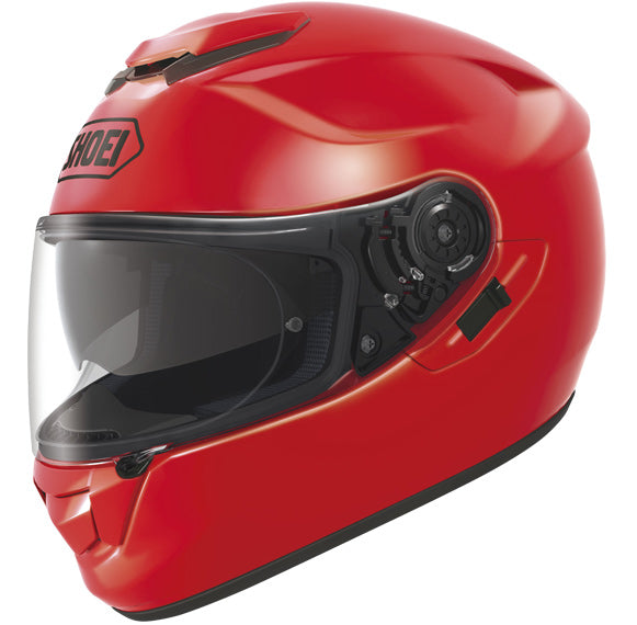 SHOEI GT AIR SHINE RED MOTORCYCLE RIDING MOTORBIKE CRASH FULL FACE HELMET WITH VISOR