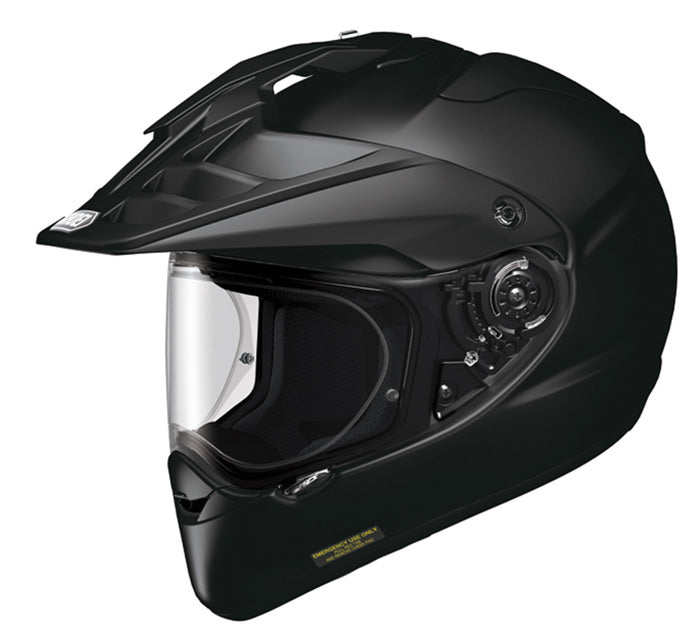 Shoei Hornet ADV Motorcycle Adventure Touring Bike Racing Helmet Plain Black