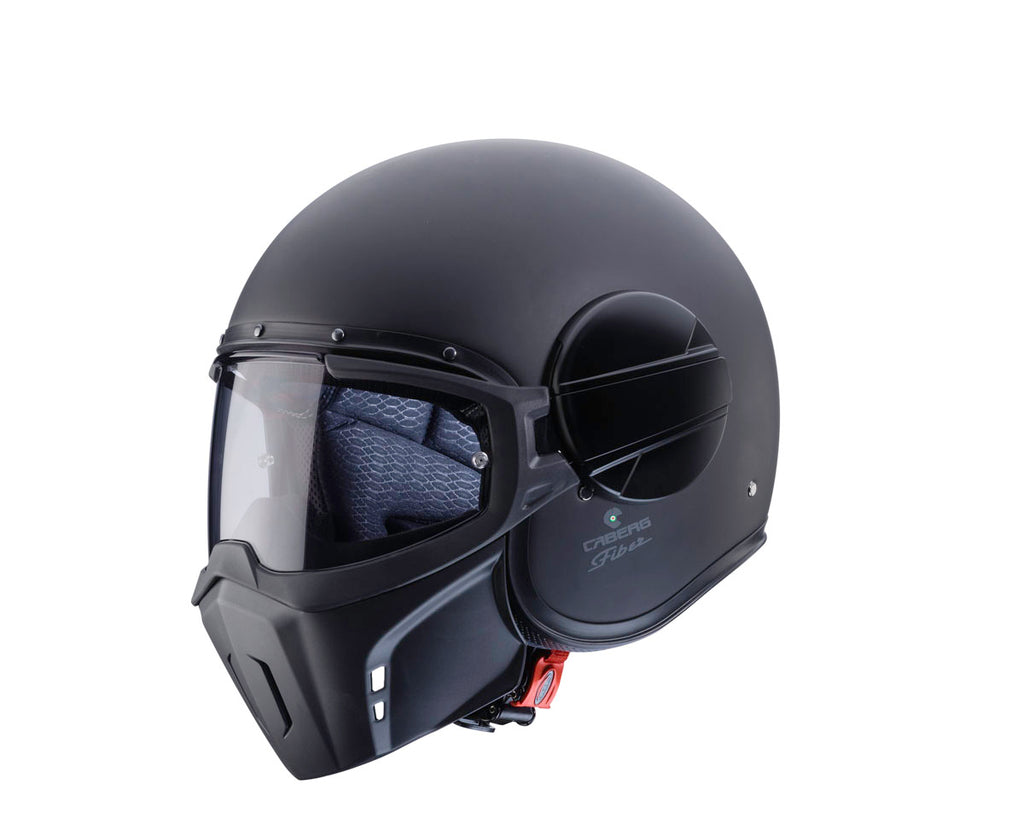 CABERG GHOST MOTORBIKE ADULT JET SCOOTER TOURING MOTORCYCLE HELMET MATT BLACK