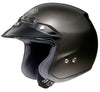 SHOEI RJ MOTORBIKE CRASH SCOOTER TOURING OPEN FACE STYLISH MOTORCYCLE HELMET BLACK