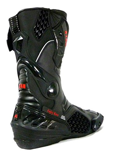 Mens Motorbike Boots XTRM Core Motorcycle Racing Armour Sports Boots Full Black